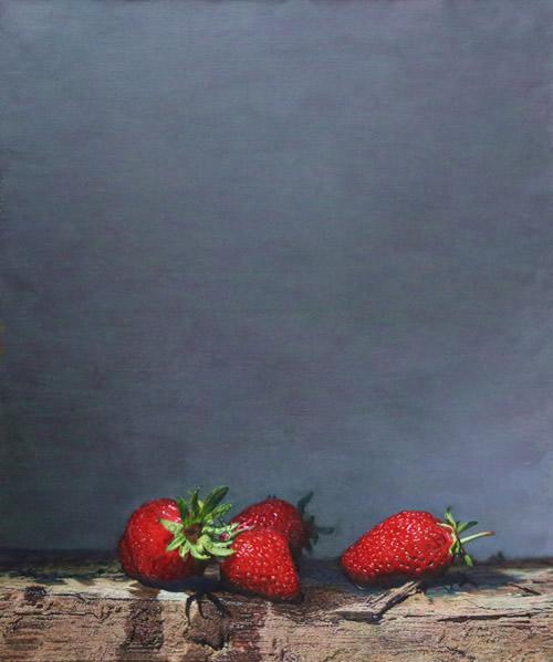 潘思源《草莓》50x60cm2014年布面油画