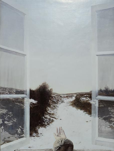 孙海东《窗外的耶路撒冷》  40乘50CM  板上油画   2015年