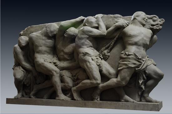 理想国 栋梁 青铜 2015 中国美术馆藏160x50x90cm