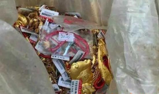 警方追回的黄金饰品