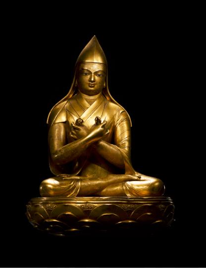 蒙古十七世纪 铜鎏金哲布尊丹巴像