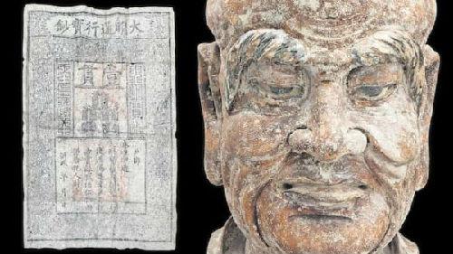 中国木雕中发现明朝纸币(图片来源:英国《金融时报》网站)