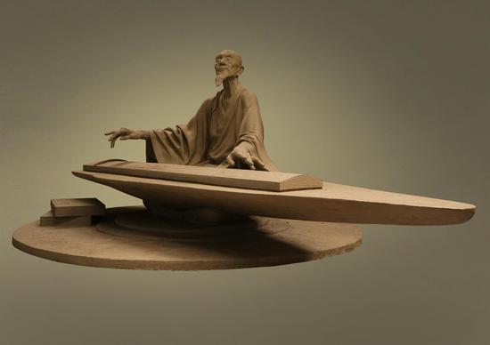 邓柯作品_朱载堉《乐律全书》树脂着色,长90cm,宽71cm,高50cm