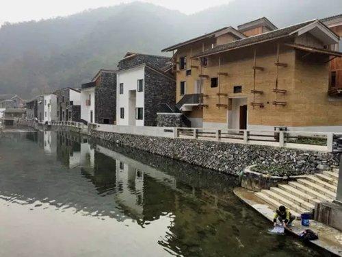 王澍设计的富阳文村项目。图片来自网络