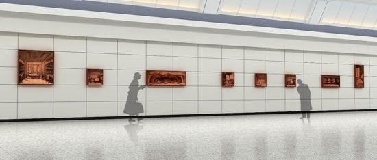 北京地铁十五号线清华东路站《学子记忆》