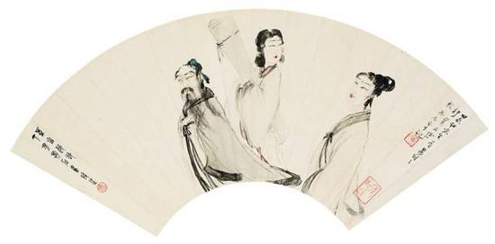 傅抱石扇面《东山逸致》,成交价:264.5万元,图片来源:中国嘉德