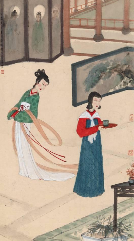 傅抱石《风光好》,成交价:6612.5万元,图片来源:中国嘉德