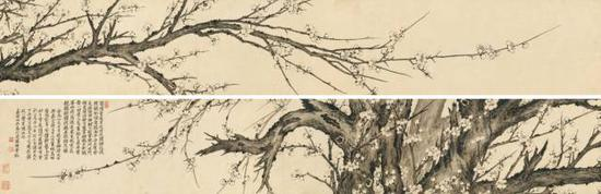 罗聘《疏影横斜图》,成交价:644万元,图片来源:中国嘉德