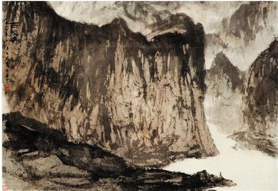 傅抱石 西陵峡 中国美术馆藏 1960年