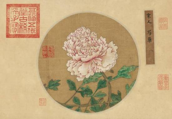 宋人《芍药图》,成交价:2070万元,图片来源:中国嘉德
