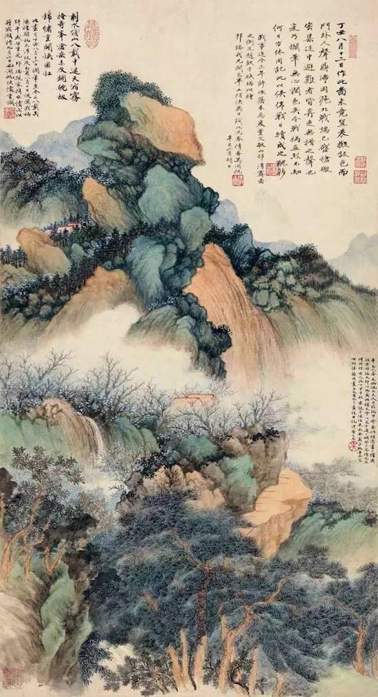 吴湖帆《锦绣奇峰》