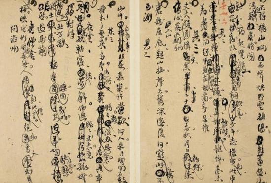 王铎《行书诗文稿》,成交价:655.5万元,图片来源:中国嘉德