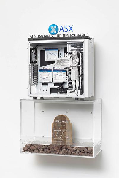 """""""数据区块链的未来展现""""展览现场,图片来源: 佩策尔画廊2"""