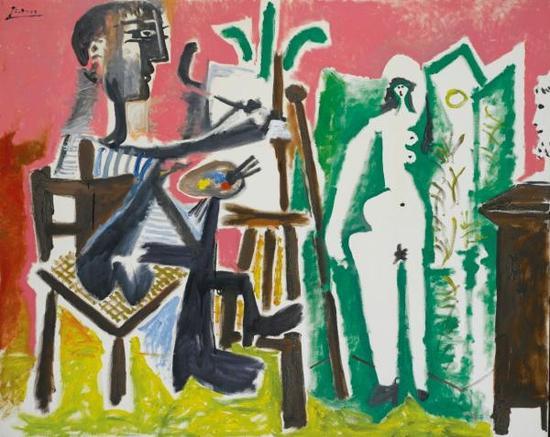 毕加索,《画家和他的模特》