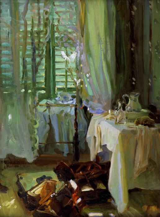 约翰·辛格·萨金特(John Singer Sargent)的《The Hotel Room》(1904年-1906年) 图片来源:私人收藏