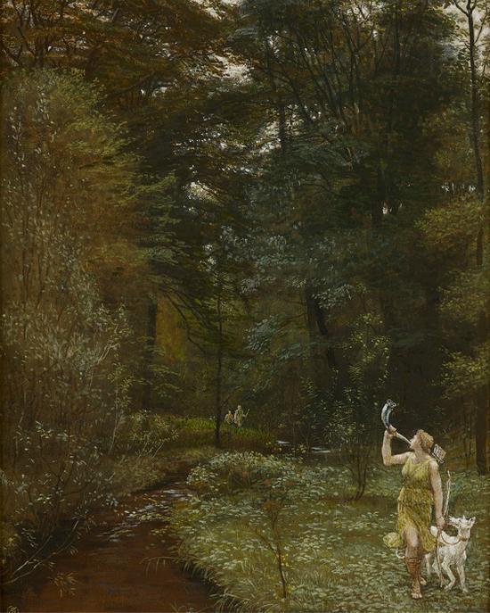 沃尔特·克兰(Walter Crane)的《黛安娜》(Diana)(1881年) 图片来源:私人收藏