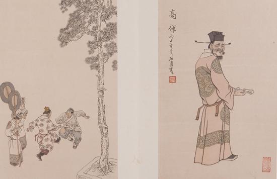 水浒十丑图册(12开,24幅)-贺友直-北京画院藏