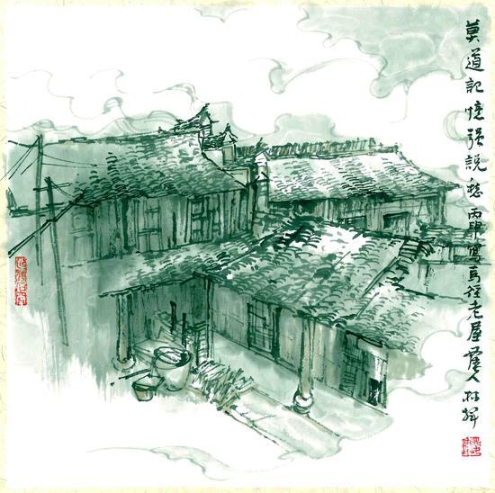 黛瓦白墙诉乡愁:江北区马径古建筑群手绘展将举办