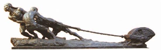钱绍武《大路歌》 青铜 200cm×70cm 1959年