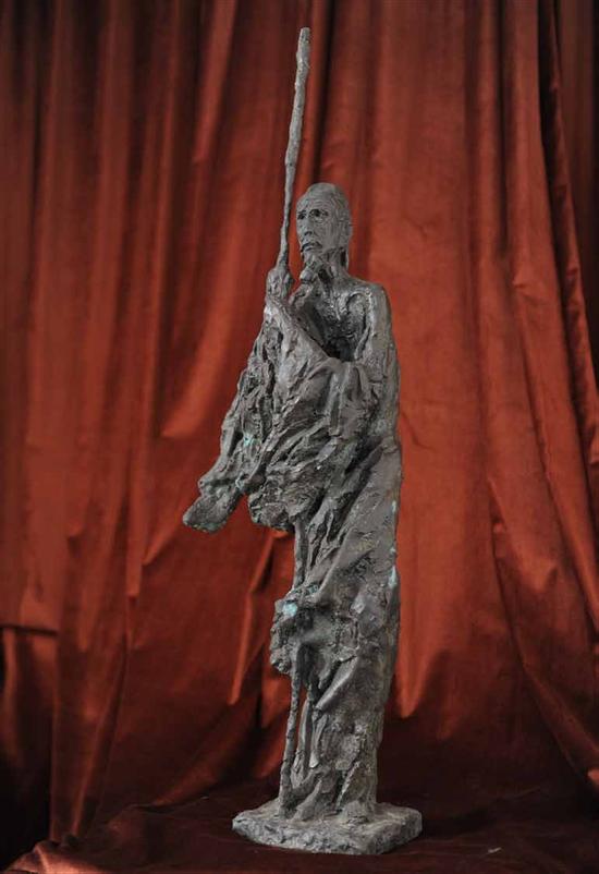 钱绍武《杜甫立像》 铸铜 高250cm 2007年