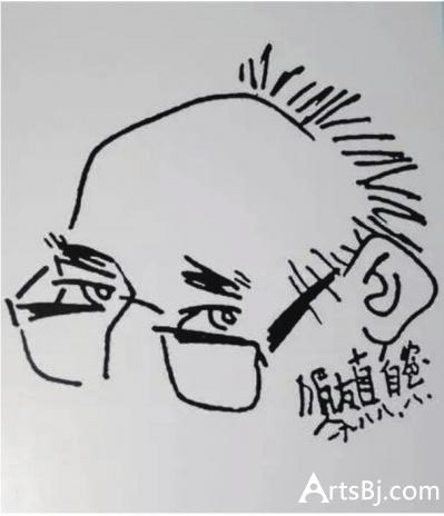 贺友直自画像