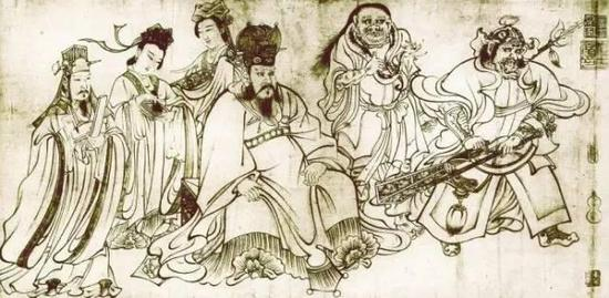 吴道子《天王送子图》局部