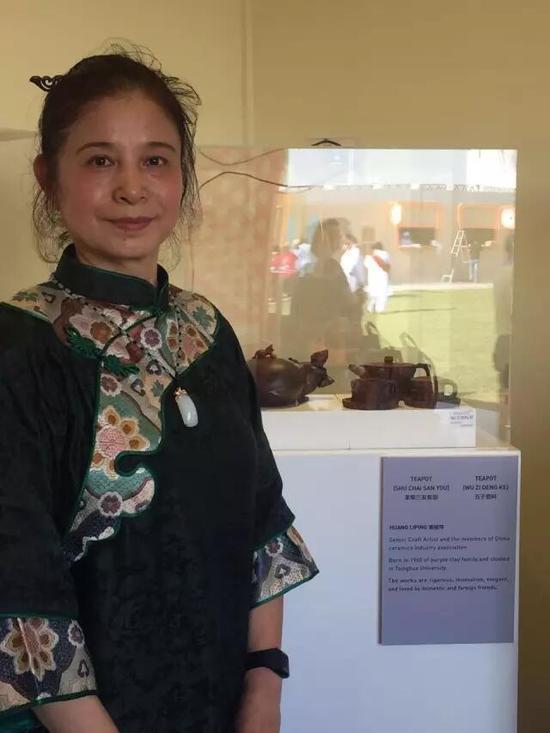高级工艺美术师——黄丽萍 参展作品:《束柴三友套壶》、《五子登科壶》