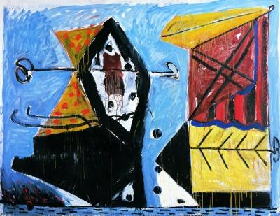 静物画:渔夫之死 (混合剂法画布画)190×245厘米 马尔库斯·吕佩茨