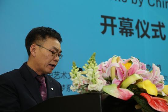中国梦系列文化艺术活动组委会执行总监金镇宝先生在启动仪式上致辞
