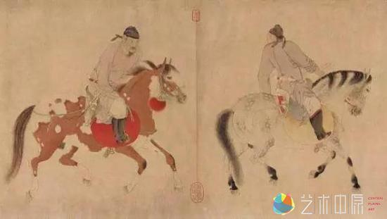 《五王归醉图》岐王李范、薛王李业