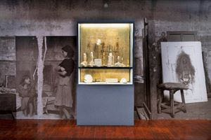 在展览现场复原的贾科梅蒂23平方米工作室