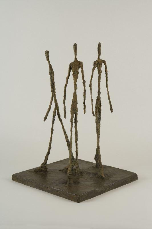 贾科梅蒂《三个行走的男人》1948,铜