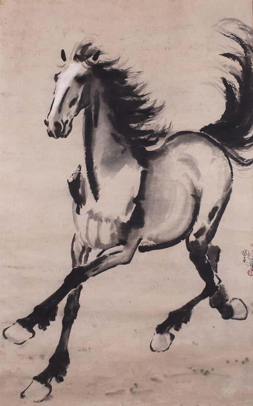 徐悲鸿的 奔马 是油画吗图片