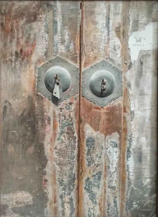 《老门系列5》 板上油画 40cm×60cm