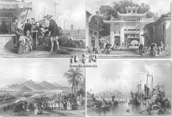 英国铜板画真实再现两百年前的中国