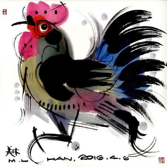 韩美林设计的丁酉年生肖邮票