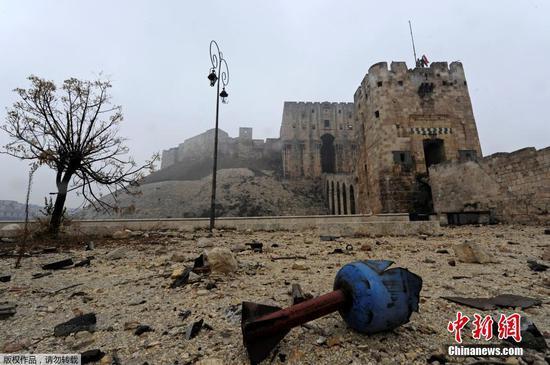 叙政府军历时4年终夺回阿勒颇 千年古城沦为废墟