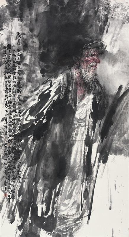 任惠中 《岁月》 180×97c 中国画 2015