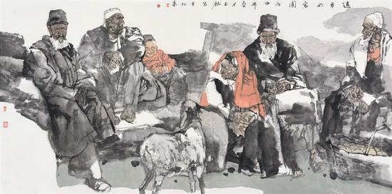 陈钰铭 《远方的家园》 68×136 中国画 2016