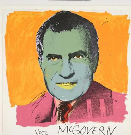 安迪•沃霍尔作品, 《为麦戈文投票》(Vote McGovern),1972年。