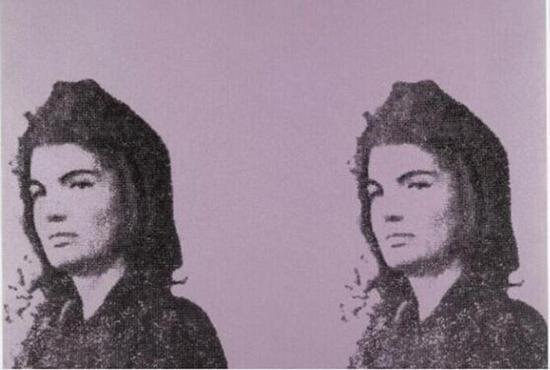 安迪•沃霍尔作品,《杰奎琳•肯尼迪II》,1965年。