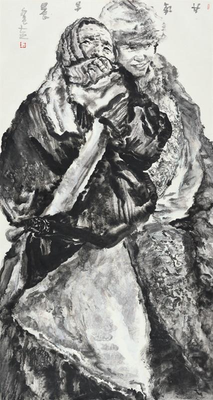 方土 《甘南早晨》180×97c 中国画 2012