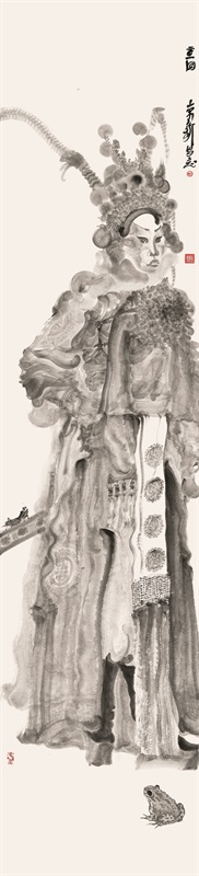 周京新 《角色系列》226×53cm 中国画 2014
