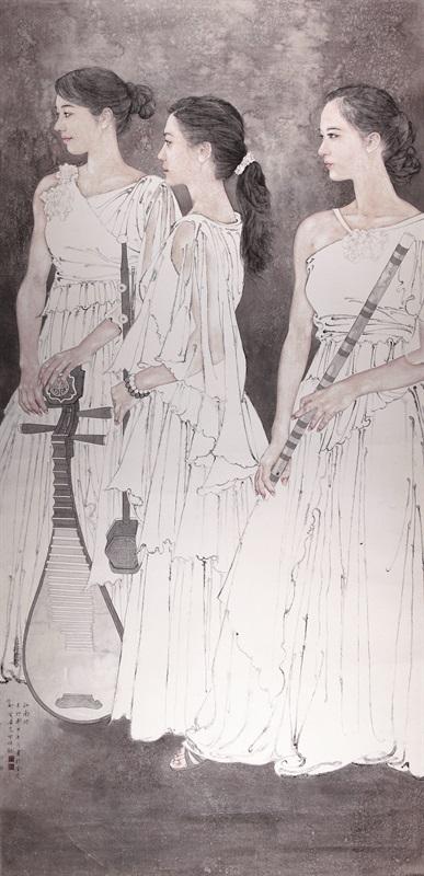 高云《江南好》 230×110cm 中国画 2011