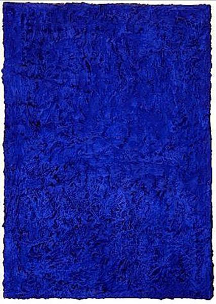 伊夫·克莱因 Yves Klein - 无题蓝色绘画