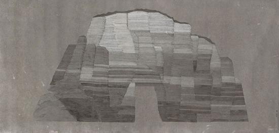 《山门》93×193cm 纸本综合 颜海蓉2016年