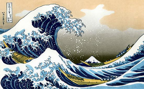 葛饰北斋 Katsushika Hokusai - 神奈川冲浪里 The Great Wave of Kanagawa
