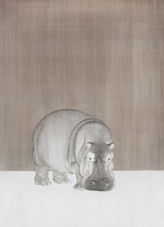 《寂夜》 60×45厘米 绢本 李金国 2014年