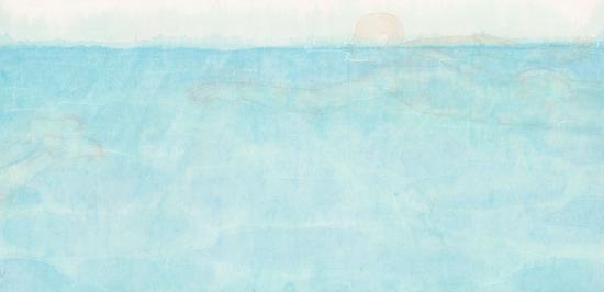 《无界-4》 70×142厘米 纸本彩墨 李戈晔 2015年