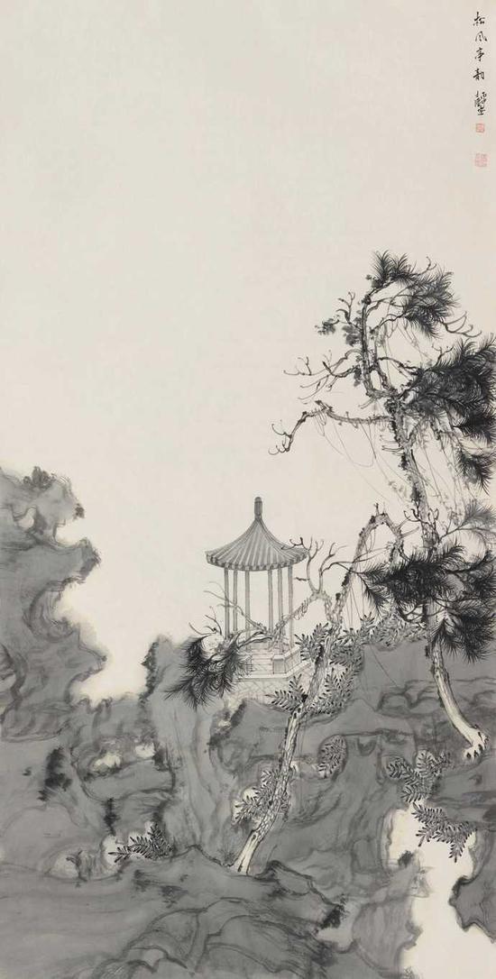 《松风亭韵》68X136CM 2016